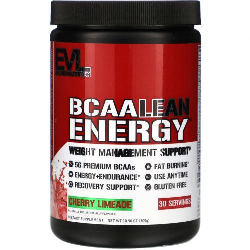 EVLution Nutrition, Сухая энергия аминокислот с разветвленной цепью, вишневый лаймад, 11,6 унц. (330 г)