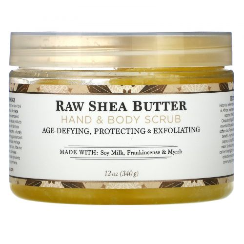 Nubian Heritage, Сырое масло ши, скраб для тела и рук, Raw Shea Butter, 340 г