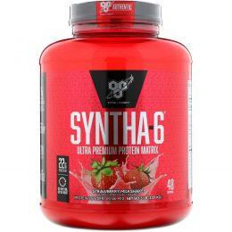 BSN, Syntha-6, заменитель пищи или добавка, клубничный молочный коктейль, 5 фунтов (2,29 кг)