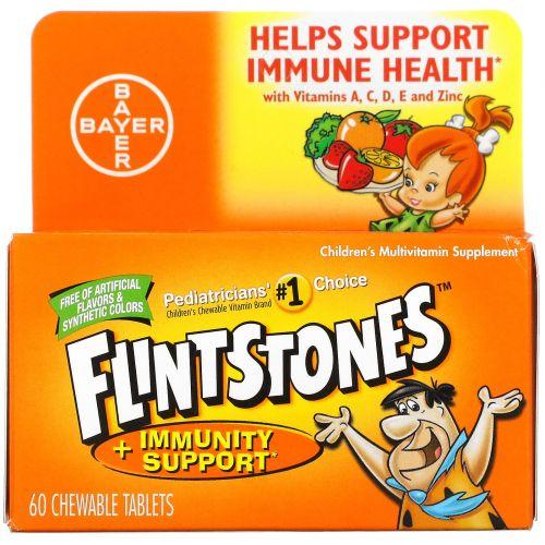 Flintstones, Детская мультивитаминная добавка, фруктовые ароматы, 60 жевательных таблеток с приятным вкусом