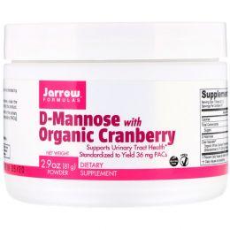 Jarrow Formulas, D-Mannose with Organic Cranberry, 2.9 oz (81 g)