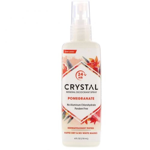 Crystal Body Deodorant, Минеральный дезодорант-спрэй, гранат, 100 мл