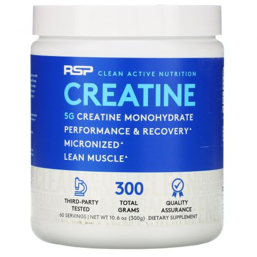 RSP Nutrition, Моногидрат креатина, 10,6 унц. (300 г)