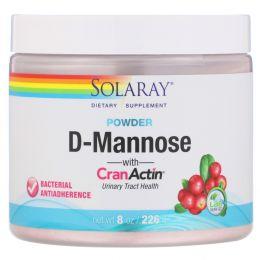 Solaray, D-манноза с клюквой, вкус лимона и ягод , 2000 мг, 7.6 унции(216 г)