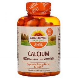 Sundown Naturals, Calcium Plus Vitamin D3, 1200 mg, 170 Softgels