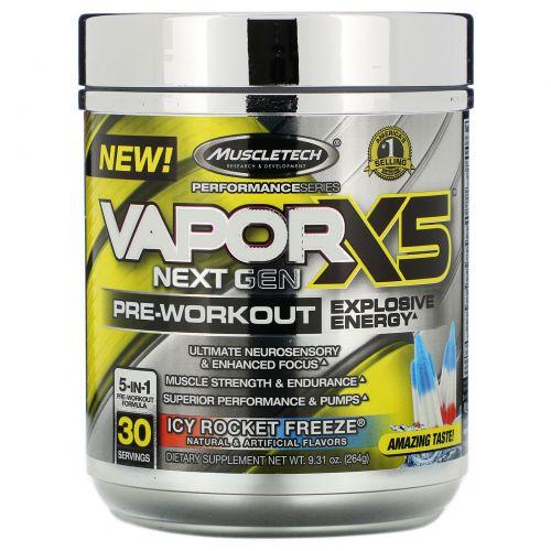 Muscletech, VaporX5 Next Gen, Pre-Workout, Icy Rocket Freeze, 9.31 oz (264 g)