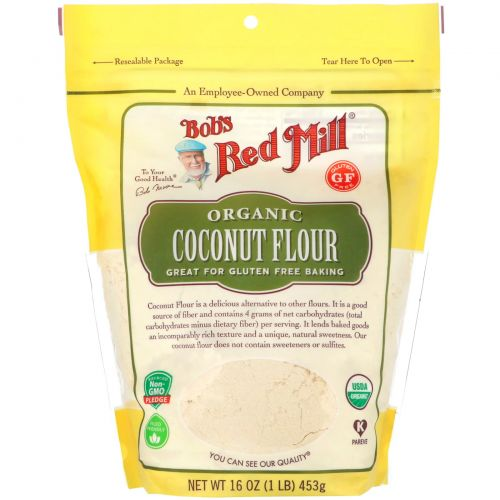 Bob's Red Mill, Organic, Coconut Flour, Gluten Free, 16 oz (453 g)