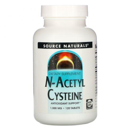Source Naturals, N-ацетил цистеин, 1000 мг, 120 таблеток