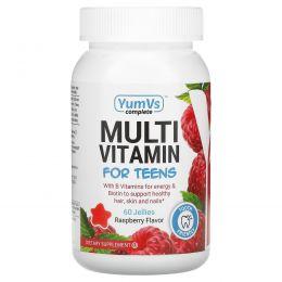 Yum-V's, Мультивитамины для подростков, Малиновый вкус, 60 штук