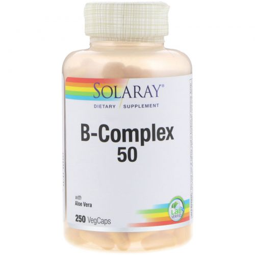 Solaray, Комплекс 50 с витаминами группы B, 250 вегакапсул