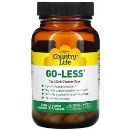 Country Life, Средство Go Less для мужчин и женщин, для поддержки здоровья мочевого пузыря, 60 капсул на растительной основе