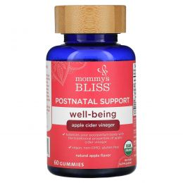 Mommy's Bliss, Postnatal Support, Well-Being, Natural Apple, 60 Gummies