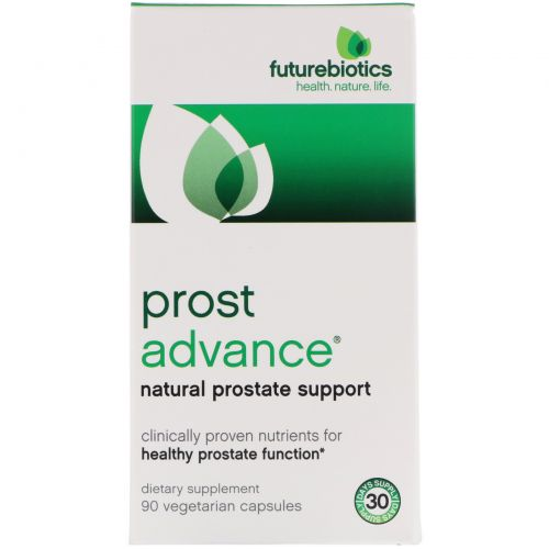 FutureBiotics, ProstAdvance, натуральная поддержка предстательной железы, 90 вегетарианских капсул
