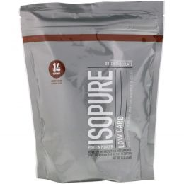 Nature's Best, IsoPure, Протеиновый порошок с низким содержанием углеводов, голландский шоколад, 1 фунт (454 г)