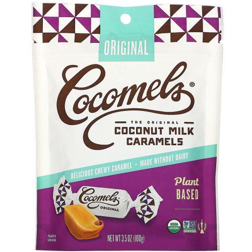 Cocomels, Органическая карамель с кокосовым молоком, оригинальная, 3,5 унц. (100 г)
