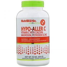 NutriBiotic, Гипоаллергенный буферизированный витамин С, шипучий кристаллический порошок, 16 унций (454 г)