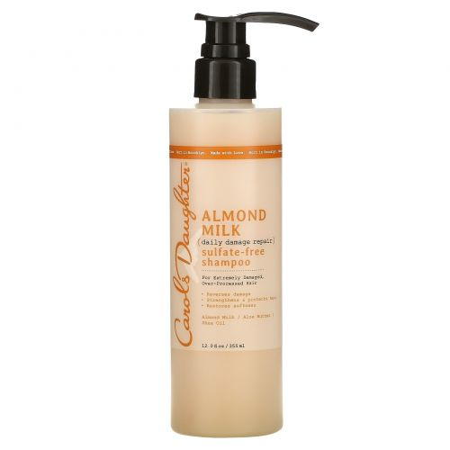 Carol's Daughter, Almond Milk, Daily Damage Repair, Sulfate-Free Shampoo, For Extremely Damaged, Over-Processed Hair,  12 fl oz (355 ml)