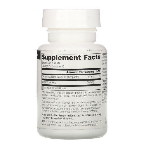 Source Naturals, Транс-aеруловая кислота, 250 мг, 30 таблеток