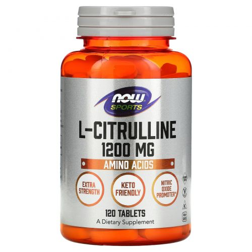 Now Foods, L-Citrulline, 1200mg, 120 Tablets