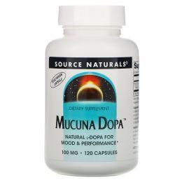 Source Naturals, Mucuna Dopa, 100 мг, 120 капсул
