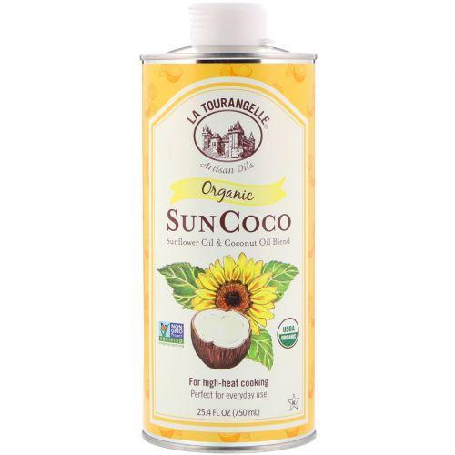 La Tourangelle, Organic Sun Coco, органическое масло, 25,4 жидк. унции (750 мл)