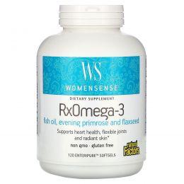 Natural Factors, WomenSense, RxOmega-3, Женская смесь, 120 Капсул