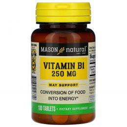 Mason Naturals, Витамин B-1, 250 мг, 100 таблеток