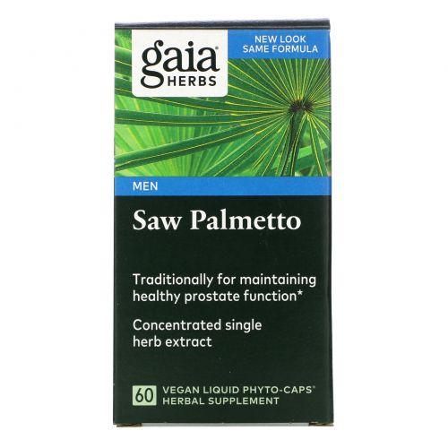Gaia Herbs, Со пальметто, 60 жидких фито-капсул на растительной основе