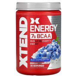 Scivation, Xtend Energy, Кофеин медленного высвобождения + аминокислоты с разветвлённой цепью, Голубая малина, 12,3 унц. (348 г)