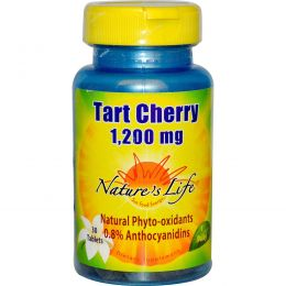 Nature's Life, Вишня, 1200 мг, 30 таблеток