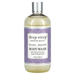 Deep Steep, Гель для душа с ароматом лаванды - ромашки, 237 мл