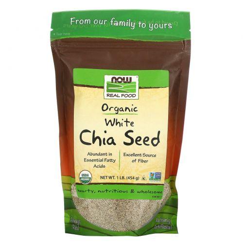 Now Foods, Настоящая пища, Семена белой чиа, 1 фунт (454 г)