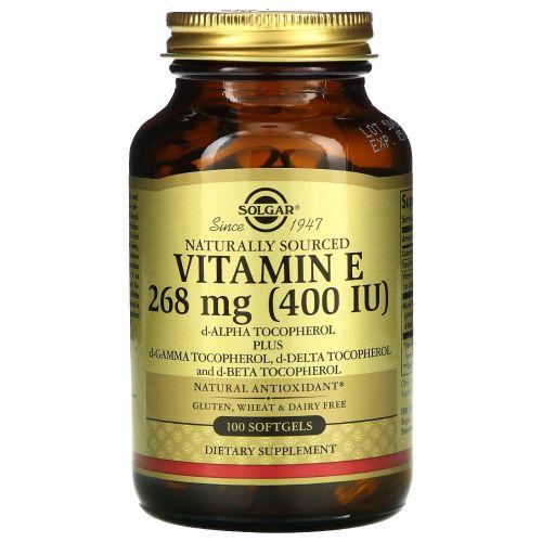 Solgar, Витамин Е, 400 МЕ, 100 капсул