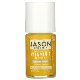 Jason Natural, Масло для кожи с витамином Е с повышенной силой действия, 32000 МЕ, 1 жидкая унция (30 мл)