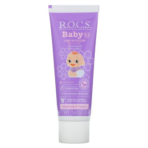 R.O.C.S. , Baby, Lime Blossom Toothpaste, 0-3 Years, 1.6 oz (45 g)