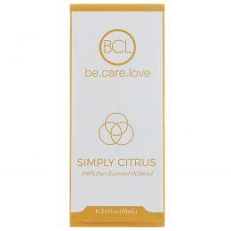 BCL, Be Care Love, Смесь 100% чистого эфирного масла, простой цитрусовый аромат, 0,34 ж. унц. (10 мл)