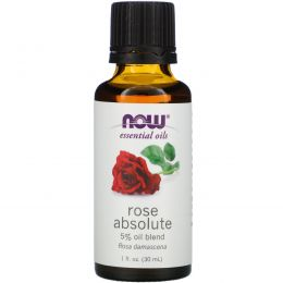 Now Foods, Базовые масла, Rose Absolute, 1 жидкая унция (30 мл)