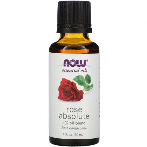 Now Foods, Базовые масла, Rose Absolute, 1 жидкая унция (30 мл)