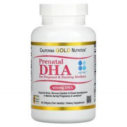 California Gold Nutrition, Пренатальная ДГК для беременных и кормящих матерей, 900 мг, 60 мягких желатиновых капсул