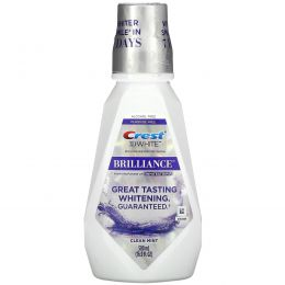 Crest, 3D White, Brilliance Whitening Mouthwash, Clean Mint, Alcohol Free, 16.9 fl oz (500 ml)