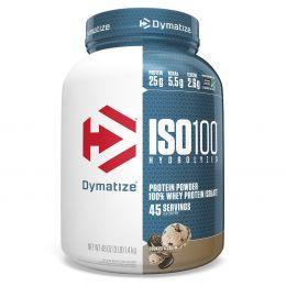Dymatize Nutrition, ISO 100, гидролизованный 100% изолят сывороточного белка, печенье с кремом, 3 фунта (1,36 кг)