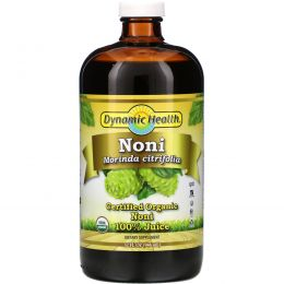 Dynamic Health  Laboratories, Organic Certified Noni, 100% Juice, 32 fl oz (946 ml)