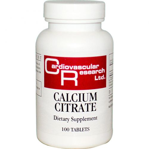 Cardiovascular Research Ltd., Цитрат кальция, 100 таблеток