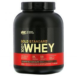 Optimum Nutrition, 100 % молочная сыворотка «Золотой стандарт», Молочный шоколад, 5 фунтов (2.273 г)