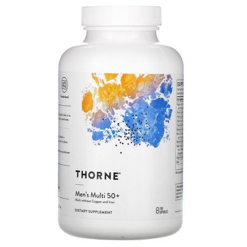 Thorne Research, мультивитамины для мужчин старше 50лет, 180капсул