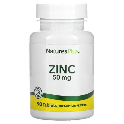 Nature's Plus, Цинк, 50 мг, 90 таблеток