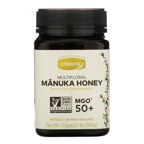 Comvita, Multifloral Manuka Honey, MGO 50+, 17.6 oz (500 g)
