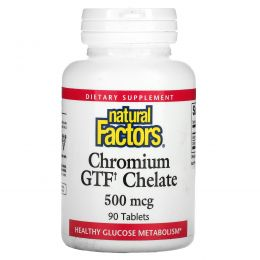 Natural Factors, Chromium GTF Chelate, 500 мкг, 90 таблеток