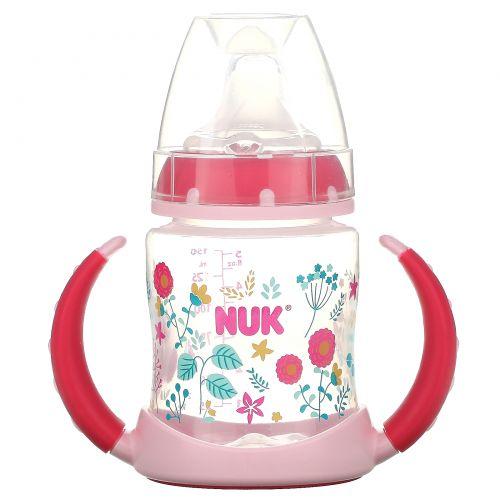NUK, Чашка для обучения, от 6 месяцев, сердца, 1 чашка, 150 мл (5 унций)