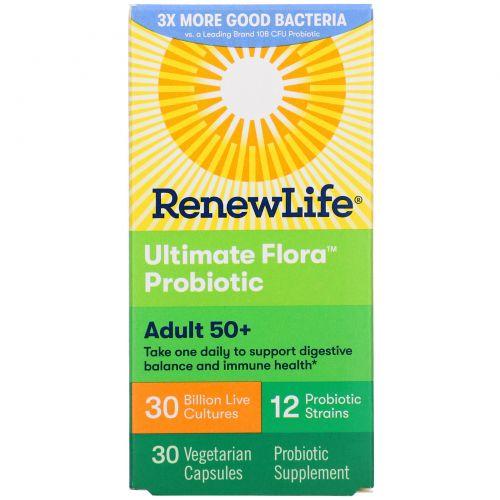 Renew Life, Ultimate Flora, Высшая формула, 30 миллиардов, 30 вегетарианских капсул